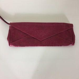 Maurizio Taiuti Pink Leather Envelope Clutch